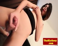 Sweet Young Ladyboy Fingers Her Ass - scene 5