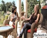 Sexy Babes Have Fun With Nasty Guys In Foursome Mansion - scene 5