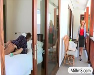 Busty Milf Jennifer Best Hot Ffm Threesome With Teen Couple - scene 2