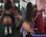Sexy Workout Babes Share Thick Swollen Sweaty Cock - scene 8