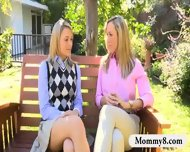 Mia Malkova Shared Man Meat With Stepmom Brandi Love In Bed - scene 1