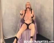 Angel Corte Gagged And Bound Tight To A Chair - scene 11