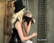 Blonde Slave In Bdsm Caned And Pussy Toyed - scene 5