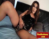Mature Thai Glamour Tgirl Masturbates - scene 1