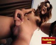 Mature Thai Glamour Tgirl Masturbates - scene 6