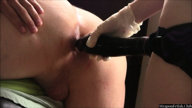 Guy Gets Strapon Pegged By His Gf