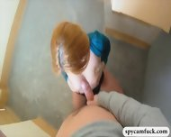 Hot Nubile Redhead Babe Picked Up And Fucked In A Stairway - scene 12
