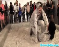 Two European Beauties Wrestling In Mud - scene 3