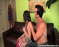 Horny Teen Babysitter Gets Gangbanged By Swinger Couple! - scene 1