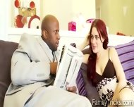 Redhead Teen Wanna Know If Her Black Stepfather Has A Huge One - scene 3