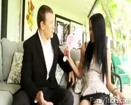 Gorgeous Brunette Teen Meets Her New Step Father - scene 4