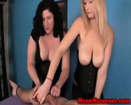 Femdom Masseuses Cbt Tied Down Client - scene 9