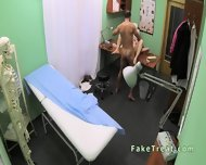 Doctor Fucks Milf Patient On A Desk - scene 11