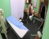 Doctor Fucks Milf Patient On A Desk - scene 12