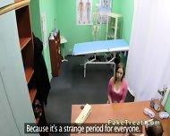 Doctor Fucks Milf Patient On A Desk - scene 4