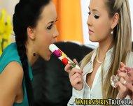 Glamor Lesbian Trio Piss - scene 2