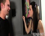 Wild Teen Mounts A Huge Dick - scene 2