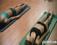 Yoga Session Of Three Super Sexy Babes Exposing Their Bodies - scene 2