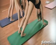 Yoga Session Of Three Super Sexy Babes Exposing Their Bodies - scene 5