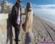 Pounding And Banging Blondies Juicy Pussy At The Beach - scene 2