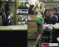 Black Bf Agrees To Get His Hot Gf Fucked In The Shop For Cash - scene 3