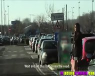 Two Lucky Dudes Picks Up Three Hot Girls Along Thier Way To Vienna - scene 1