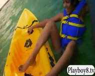 Hot Badass Girls Dived On The Lake And Kayak Racing - scene 9