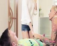 Mature Kayla Green Erotic Threesome Session With Teen Couple - scene 3