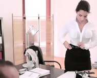 Sexy Italian Chick Sucks Cock Of Her Boss - scene 1