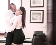 Sexy Italian Chick Sucks Cock Of Her Boss - scene 8