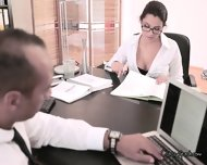 Sexy Italian Chick Sucks Cock Of Her Boss - scene 6