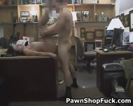 Brunette Sucking Dick And Banged In Pawn Shop Office - scene 12
