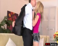 College Innocent Teen Staci Silverstone Rubs Her Stepdad Dick And Gets Slammed - scene 2