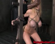 Restrained Sub In Roughsex Threeway - scene 12