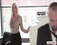 Naughty Kyras Sheer Pleasure With Her Hunk Gorgeous Officemate - scene 1