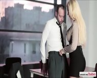 Naughty Kyras Sheer Pleasure With Her Hunk Gorgeous Officemate - scene 6