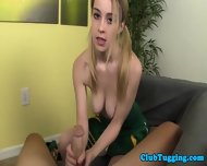 Cute Tugging Teen Cheerleader In Uniform Pov - scene 3