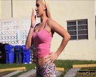 Big Boobs Amateur Blondie Teen Girl Destiny Fucked In The Car - scene 2