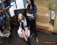 Lesbian Lovers Agree To Get Fucked In A Threesome For Cash - scene 3