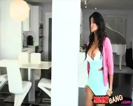Bianka And Sarai Fucked With Hard Shaft In Threesome Session - scene 4