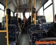 Wild Horny Blonde Fucking On A Bus - scene 8