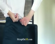 Luxury Models In Pants Enjoying Strap - scene 7