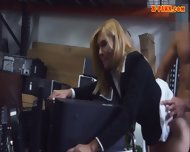 Blonde Milf Pawns Her Pussy And Pounded In Storage Room - scene 8