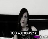 Trannys Face Cum Drips - scene 1