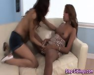 Ebony Stepsisters Eat Vag - scene 8