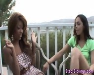 Ebony Stepsisters Eat Vag - scene 4