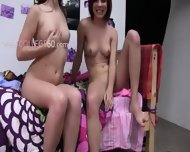 Two Amateur Girls Fucking With Young Poof - scene 1