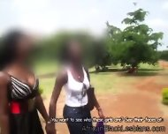 Hot Day Makes 2 Beautiful Ugandan Lezzies Seek For Refuge - scene 3