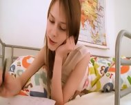 Teen Schoolgirl Doing Hole Homework - scene 1