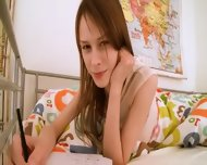 Teen Schoolgirl Doing Hole Homework - scene 2